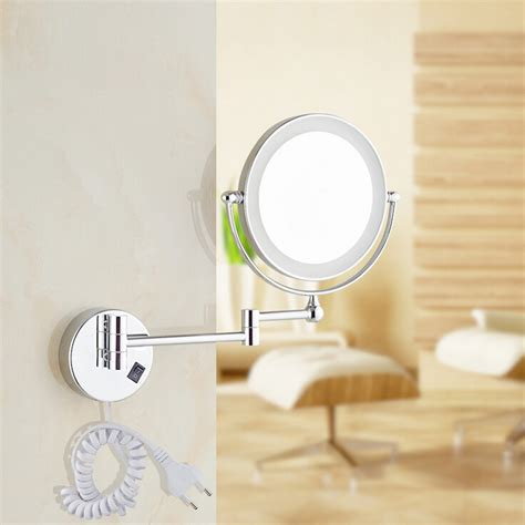 free shipping 8 quot led light wall mounted magnifying