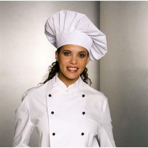 veste de cuisine manche courte toque chef cuisinier fermeture facile par velcro taille