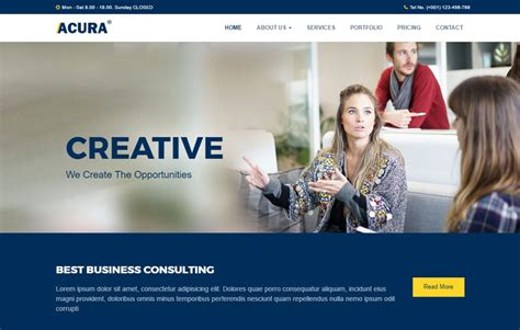 Acura Business Bootstrap Website Template