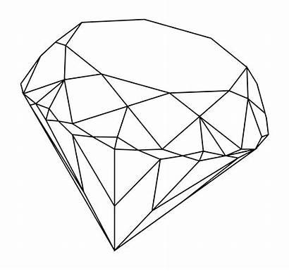 Diamond Drawing Simple Getdrawings Line