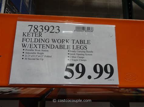 keter folding work table