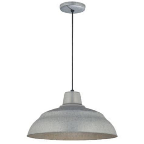 barn pendant lights with galvanized finish for bbq
