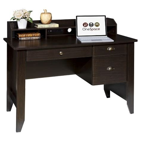 hutch target onespace 50 1617 executive desk with hutch and usb