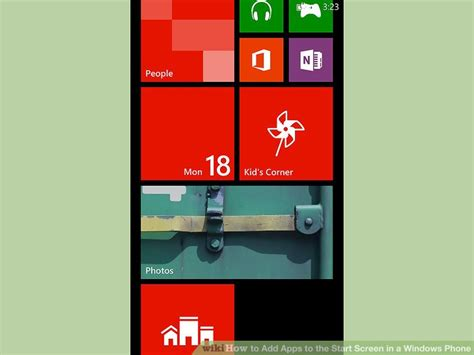 how to add apps to the start screen in a windows phone 5
