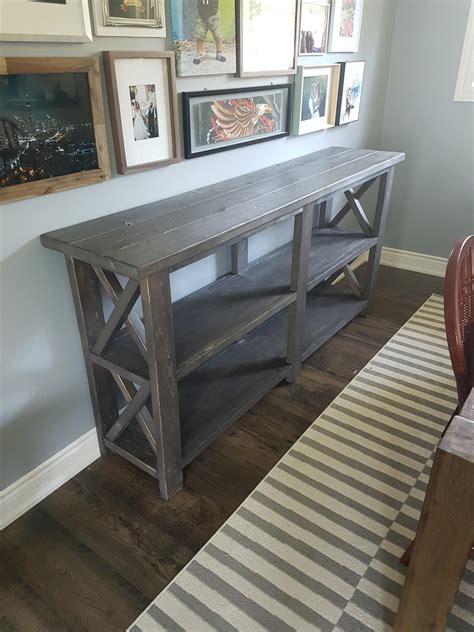 farmhouse  console table ana white