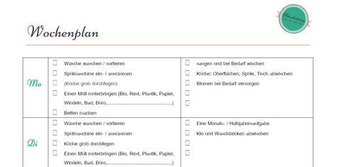 Wohnung Putzen Plan by Putzplan Wochenplan Todo Liste Zum H 228 Welm 228 Use