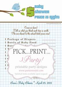 free printable price is right baby shower game template - baby shower game price is right printable diy the