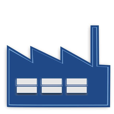 Factory Clipart Factory Free Stock Photo Illustration Of A Blue