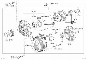 Toyota Camry Alternator Pulley  Pulley  Alternator With