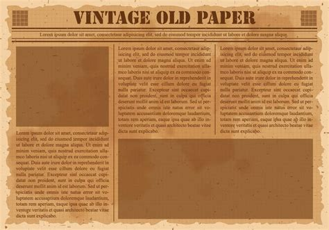 Classic Newspaper Template by Vintage Newspaper Free Vector Stock