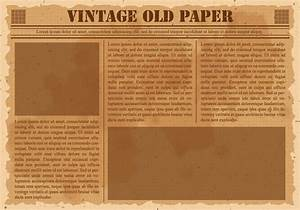 Old vintage newspaper download free vector art stock for Old fashioned newspaper template free