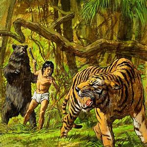 Mowgli, Shere Khan the Tiger and Baloo the Bear from The Jungle Book  Look and Learn History