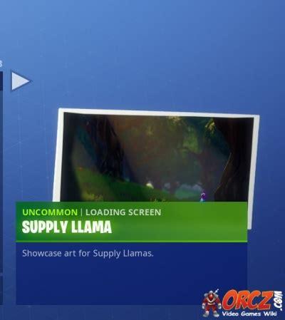 fortnite battle royale loading screen supply llama orcz