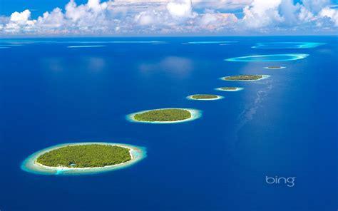 Paradise Clouds Islands Ocean Nature Photo Indian Sky Maldives Bing Beautiful Thread Hd Wallpaper