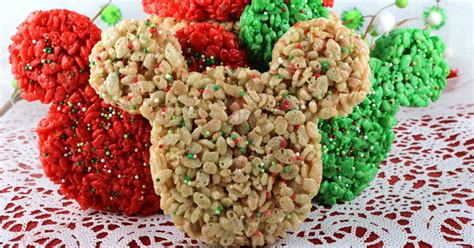 christmas mickey mouse rice krispie treats  sisters