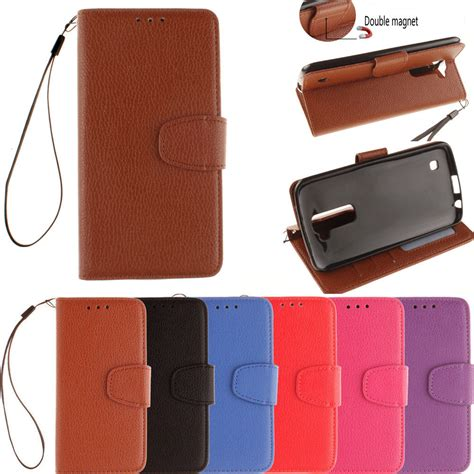 for lg k7 wallet leather flip for lg k7 tribute 5 cell phone magnet pu leather