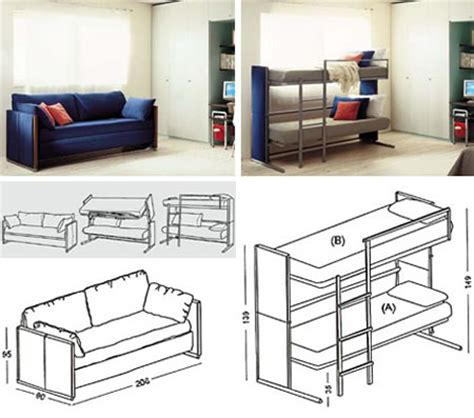 Bunk Beds With Settee by A Sofa That Can Transform Into A Bunk Bed