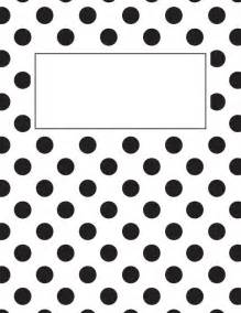 Black and White Printable Binder Cover Templates