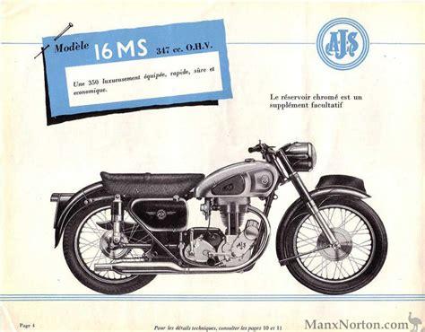 ajs 1956 modele 16ms
