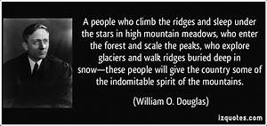 A people who cl... Scale Mountain Quotes