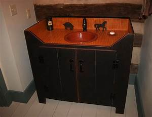 Primitive bathroom vanities with amazing inspiration for Best brand of paint for kitchen cabinets with the lord bless you and keep you wall art