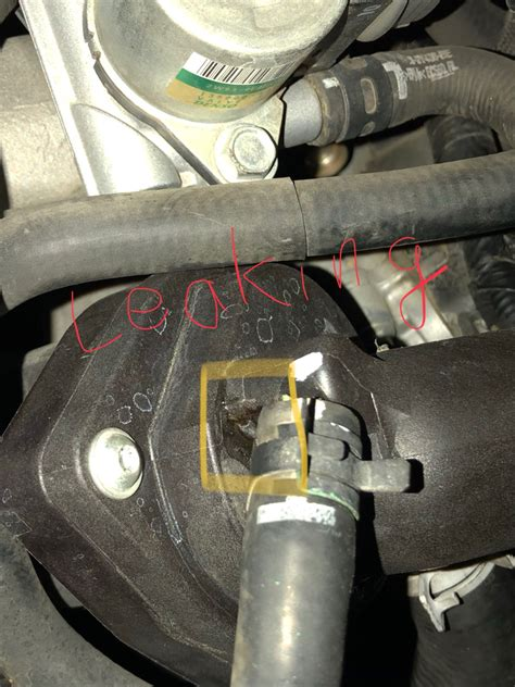 discovery    thermostat housing leak