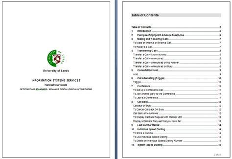 training manual templates training plans word