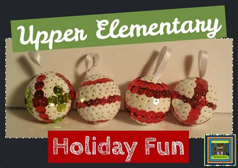 christmas crafts for 5th grade lesson deli elementary sequin ornament parent gifts teach perseverance with