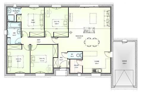 plan maison neuve 224 construire marc junior open plain pied 103 plan plain pied
