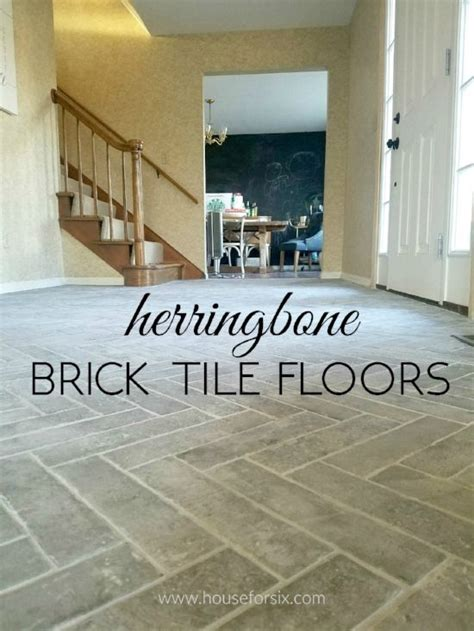 herringbone tile floor kitchen entry progress herringbone brick tile floors brick 4178