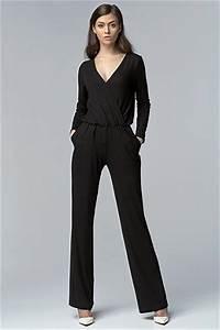 combinaison noir femme mode chic manche longue neuf sur With combinaison sous robe