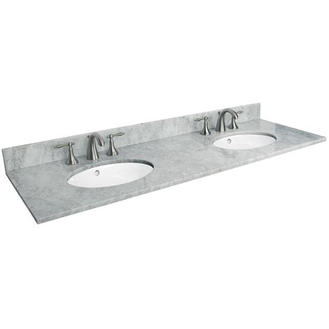 bathroom vanity with sink and faucet 73 quot x 22 quot marble vanity top with double undermount sinks