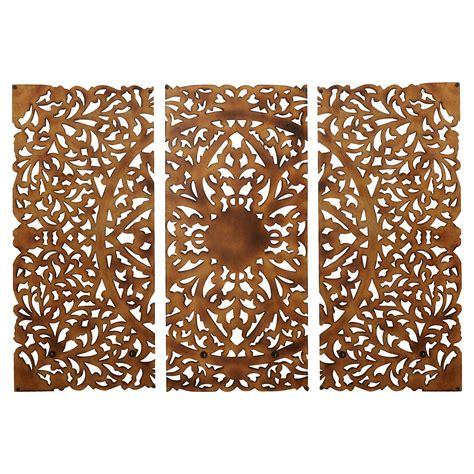 Zinc and gold metal etched disc wall art set of 3. Rosalind Wheeler 3 Piece Wall Decor Set & Reviews | Wayfair