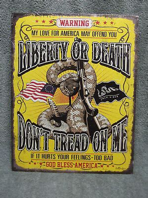 liberty  death dont tread   god bless america wall