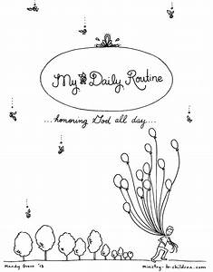 Daily Routine Coloring Book For Children  Free Printable