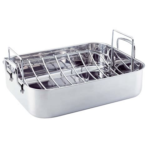 roasting pan with rack kitchenaid gourmet distinctions stainless steel 16 5 inch