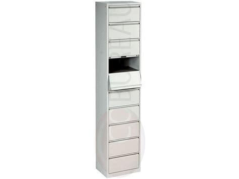 mobilier bureau modulaire meuble à clapets metal 10 cases corps gris clapets gris