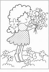 Coloring Flower Printable Spring Flowers Bouquet Sheets Bestcoloringpagesforkids Adult sketch template
