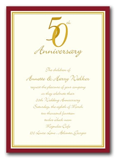 50th Wedding Anniversary Invitation Clip Art Free