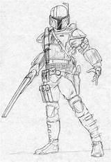 Mandalorian Coloring Pages Wars Star Deviantart Gunner Armor Kuk Drawings Template Hunter Slug Mandalorians Jedi Sketch Lineart sketch template