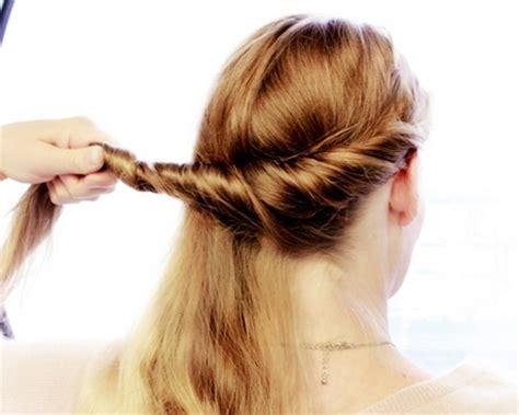 schnelle frisuren fuer lange haare