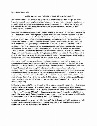 Macbeth Essay Text Response Academia Pdf