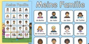 Meine Familie Vocabulary Poster German  German, My Family
