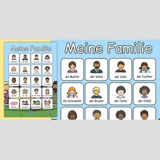 Meine Familie Vocabulary Poster German  German, My Family, Vocabulary