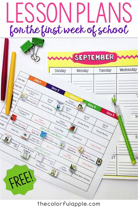 free back to school visual plans for primary grades back 593 | a1caf88197bf496b5872225474725ec3