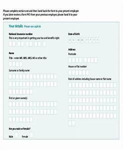 Sample Employee Tax Form