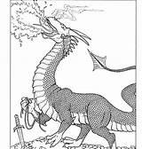Smaug Coloring Dragon sketch template