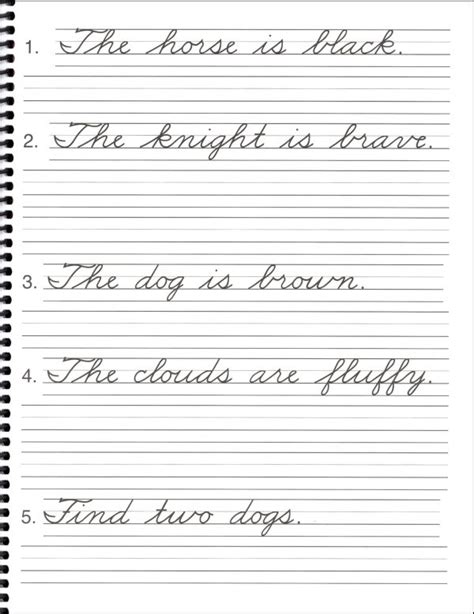 cursive sentence worksheets pictures in cursive book a 047728 details rainbow