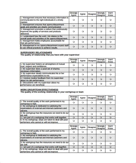 sample questionnaire template sample blank survey template 8 free documents in word pdf