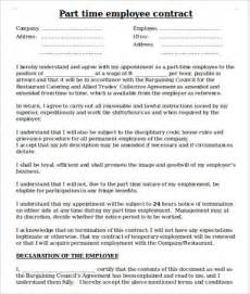 Employment Contract Agreement Template